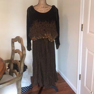 Vintage carole Little rayon dress Size 16